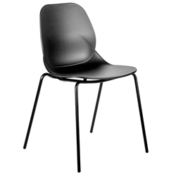 Paragon Modern Black Stacking Side Chair