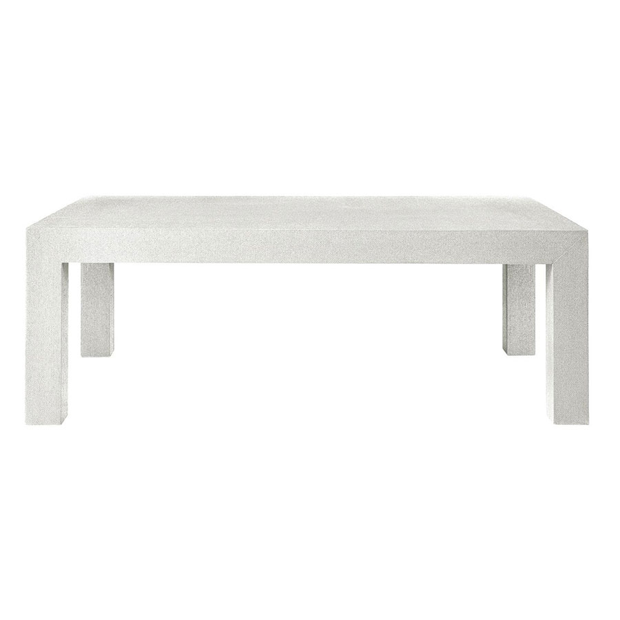 Parsons White Contemporary Coffee Table