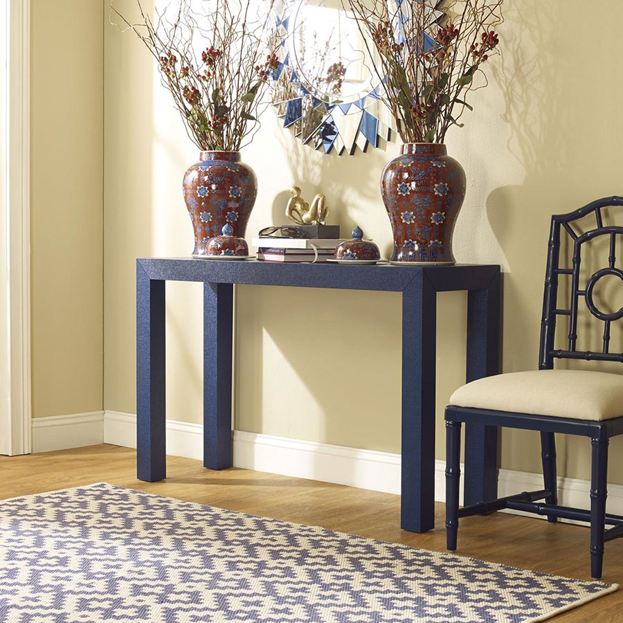 Parsons Blue Contemporary Console Table Room