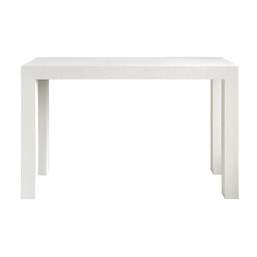 parsons white console table