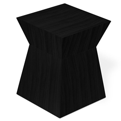 Pawn Contemporary Stool/End Table in Black Oak by Gus Modern