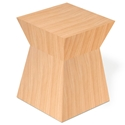 Pawn Contemporary Stool/End Table in Natural Oak by Gus Modern
