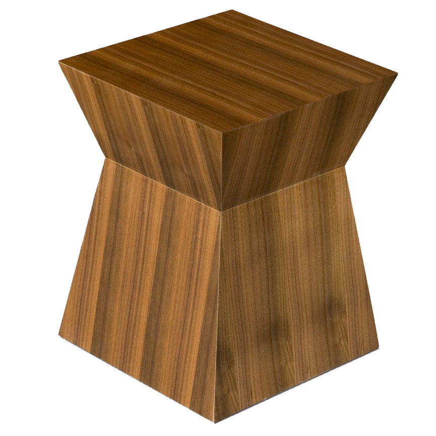 Gus Modern Pawn Stool End Table In Walnut Eurway