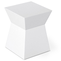 Pawn White Contemporary Stool/End Table by Gus Modern