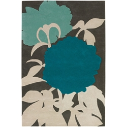 Peony 5x8 Rug in Blue