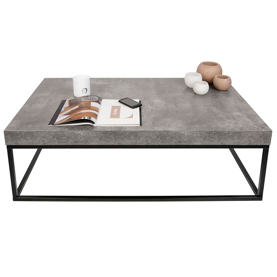 Petra Rectangular Contemporary Coffee Table Dressed