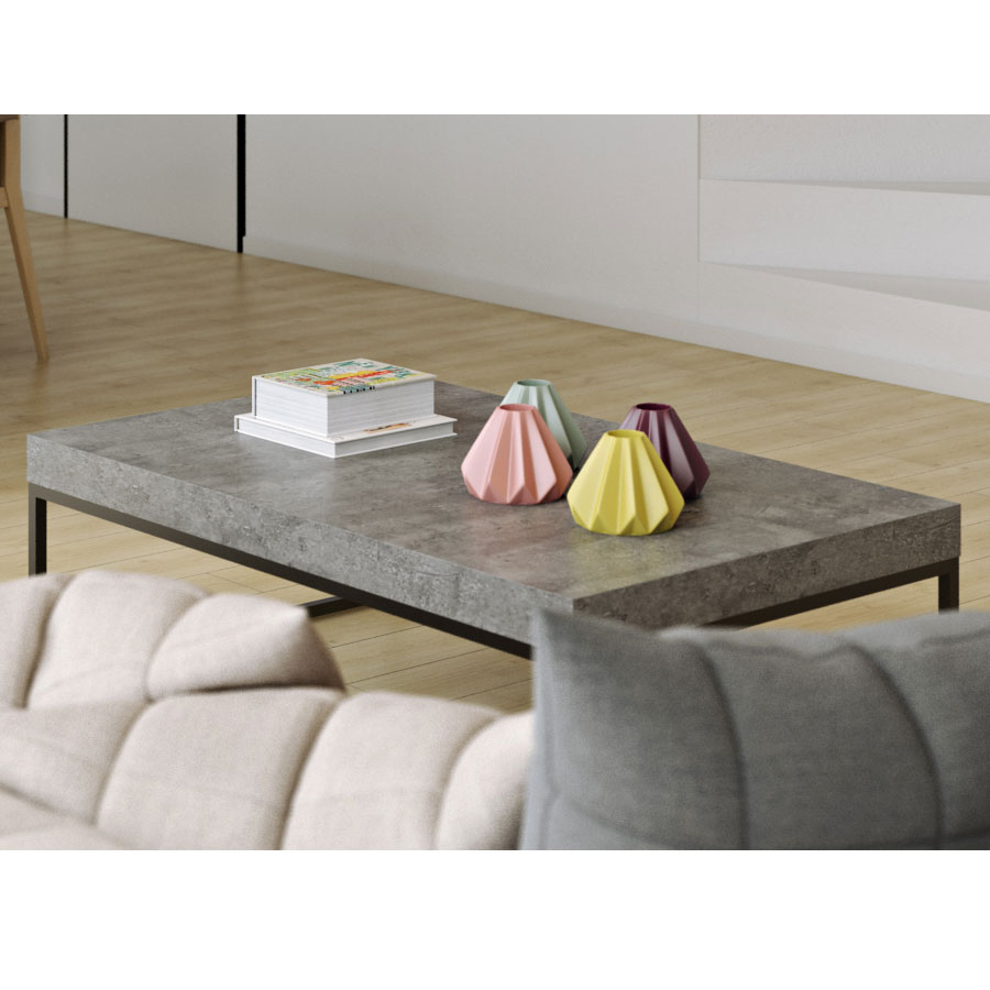 Petra Rectangular Modern Coffee Table Eurway Furniture - Rectangular concrete coffee table