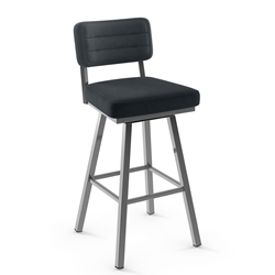 Phoebe Modern Counter Stool by Amisco in Magnetite + Blueberry