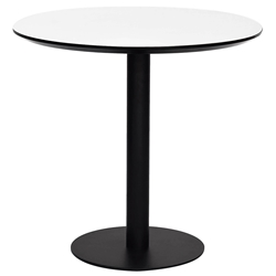 Paras Modern White + Black 32-in Round Dining Table