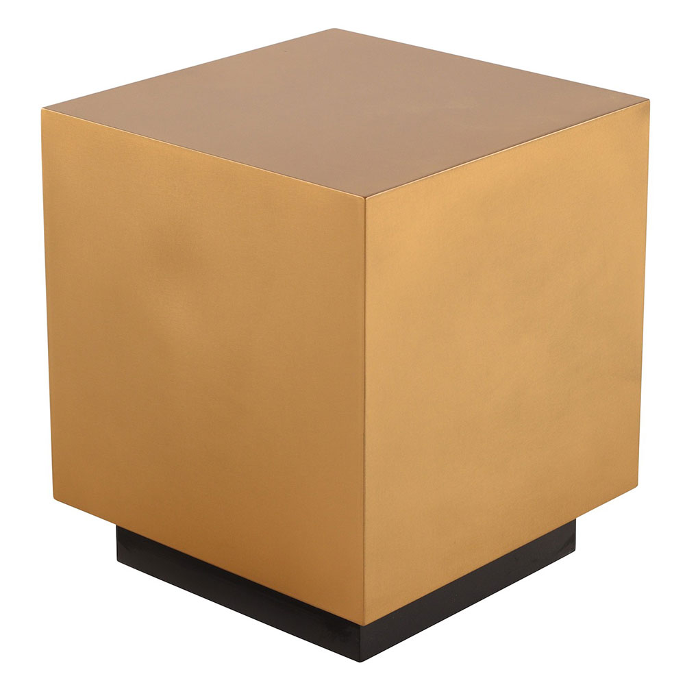 Peyton Gold Metal Square Modern End Table