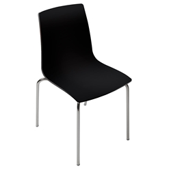 Piper Black + Chrome Modern Dining Chair by Pezzan