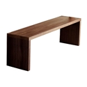 Plank Contemporary Bench by Gus Modern in Walnut