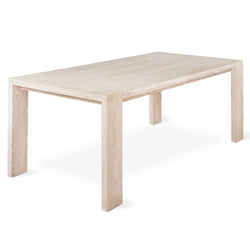 Gus* Modern Plank White Wash Dining Table