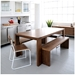 Plank Dining Table and Bench Collection by Gus Modern