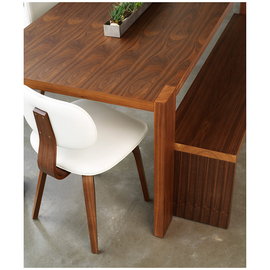 Modern Plank Dining Table In Walnut By Gus