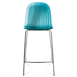 Plato Blue Modern Counter Stool