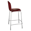 Plato Red Modern Counter Stool