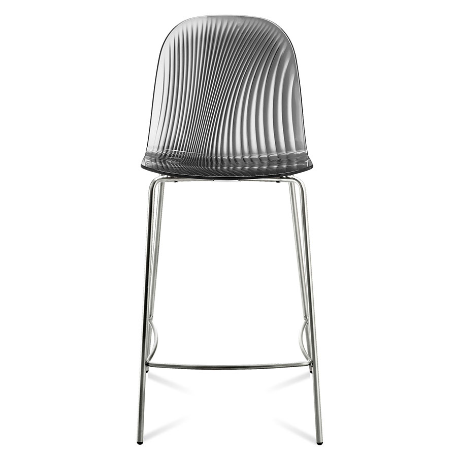 Plato Smoked Modern Counter Stool by Domitalia