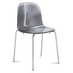 Playa Modern Stacking Dining Chair Gray