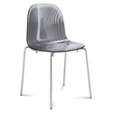 Playa Modern Stacking Dining Chair Smoke by Domitalia