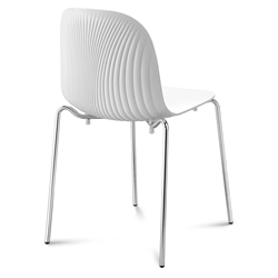 Playa Modern Stacking Dining Chair White by Domitalia