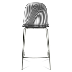 Playa-Sgb Smoked Modern Counter Stool by Domitalia