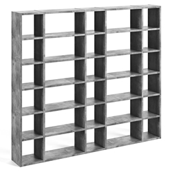 "Pombal 100"" Concrete Finish Modern Bookcase"
