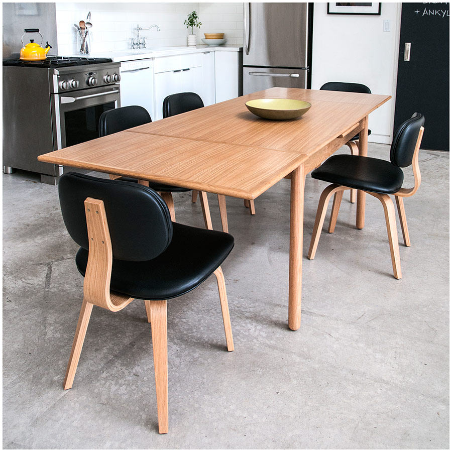 gus modern portage extension table natural ash  eurway -  portage modern extension table in natural ash by gus modern