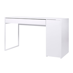 Prado White Contemporary Desk