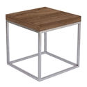 Prairie Walnut + Chrome Modern End Table