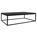 Prairie Black Marble Contemporary Coffee Table by TemaHome