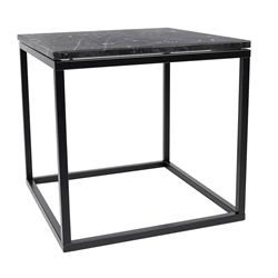 Prairie Black Marble Contemporary End Table