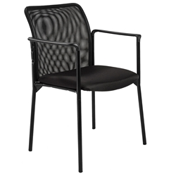 Prewitt Modern Black Arm Chair by Euro Style