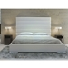 Modloft Prince Modern Platform Bed in White Faux Leather - Room Setting