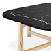 Gus* Modern Quarry Nero Marble + Ash Hardwood Contemporary Coffee Table - Detail