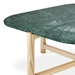Gus* Modern Quarry Verde Marble + Ash Hardwood Contemporary Coffee Table - Detail