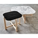 Gus* Modern Quarry Nero Marble + Ash Hardwood Contemporary End Table - Lifestyle