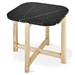 Gus* Modern Quarry Nero Marble + Ash Hardwood Contemporary End Table