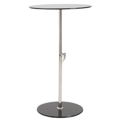 Radinka Adjustable Modern Side Table - Black Glass
