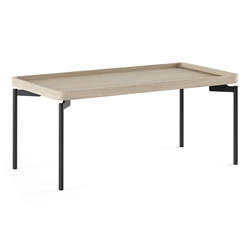 BDi Radius Drift Oak Modern Rectangle Coffee Table