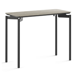 BDi Radius 1733 Rectangle Modern End Table in Concreta Ceramic