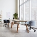 Gus* Modern Radius Modern Office Task Chair in Stockholm Graphite Fabric with Black Powder Coated Steel Base - Lifestyle