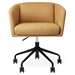 Gus* Modern Radius Modern Office Task Chair in Stockholm Camel Fabric with Black Powder Coated Steel Base - Front