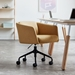 Gus* Modern Radius Modern Office Task Chair in Stockholm Camel Fabric with Black Powder Coated Steel Base - Room Shot