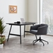 Gus* Modern Radius Modern Office Task Chair in Stockholm Graphite Fabric with Black Powder Coated Steel Base - Room Shot
