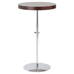 Raymond Modern Adjustable End Table in Wenge