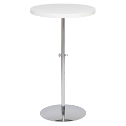 Raymond Modern Adjustable End Table in White
