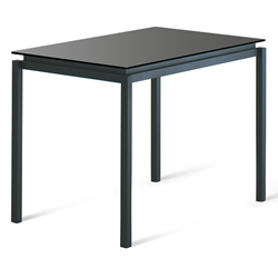 Robert Black Glass + Metal Modern Bar Height Table