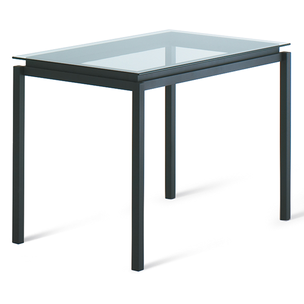 Robert Clear Glass + Metal Modern Bar Height Table