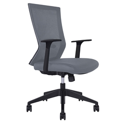 Rainbow Modern Gray Office Chair